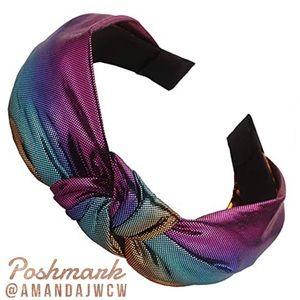 Mermaid Unicorn Metallic Rainbow Headband Option 1